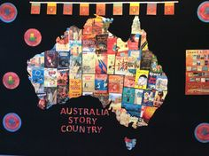 Each state shows covers of books that are set in that particular state. This display was made for both our Primary and Secondary libraries and each title can be found in the library where it is on display. Bay College, College Library, Book Week, Library Displays, Darwin, Libraries, Australia, Activities, Country