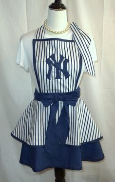 MLB, New York Yankees, Womens Apron, Hostess, Tailgating, Gameday, Bridal Shower Gifts, Any & ALL Teams on Etsy, $38.00