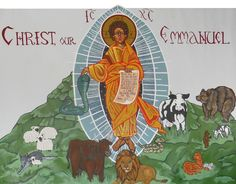 Icon Christ Our Emmanuel   Acrylic on Unframed Canvas  6' x 5' Completed December 2015