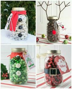 How To Decorate Mason Jars For Christmas Gifts Entrancing Disfraces Que Puede Usar Tu Mason Jar Esta Navidad  Pinterest