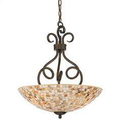 mosaic glass pendant hanging lamp - Google Search
