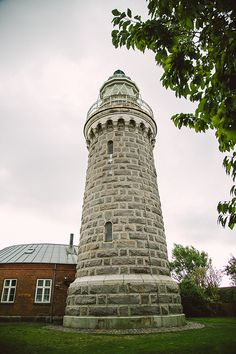 the lighthouse at soeby, denmark. photo by camilla jorvad Camilla, Pisa, Denmark, Lighthouse, Tower, Island, Building, Travel, Bell Rock Lighthouse