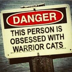 Danger this person is obsessed with Warrior Cats! So true for me! Warrior Cats Funny, Warrior Cat Memes, Warrior Cats Series, Warrior Cats Books, Warriors Memes, Love Warriors, Cute Cats, Funny Cats, Cat Boarding