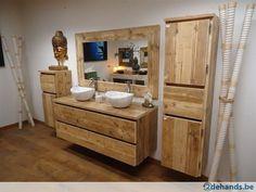 Badkamermeubels van gebruikt steigerhout