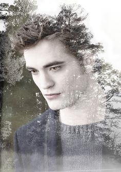 "double exposure New moon Edward Cullen ♥♥♥ "" Twilight Saga Series, Twilight Edward, Twilight New Moon, Twilight Series, Twilight Movie, Edward Cullen Robert Pattinson, Robert Pattinson Twilight, Twilight Quotes, Twilight Pictures"