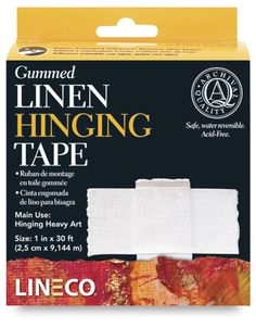 Shop Lineco Gummed Linen Tape - x 150 ft, White at Utrecht. Your source for quality, professional art supplies. Utrecht, Framing Supplies, Watercolor Art Lessons, Paper Board, Back To School Shopping, Custom Business Cards, Custom Framing, Online Printing, Adhesive