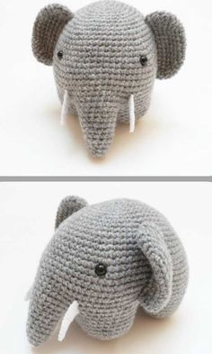 Elefante amigurumi patrón gratis - Patrones gratis
