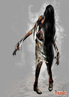 Rebone laura Concept art from the art of evil within book.
