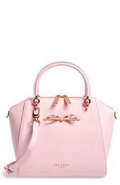 rose gold bow and hardware on this pink Ted Baker tote - Sale! Shop at Stylizio for womens and mens designer handbags luxury sunglasses watches jewelry purses wallets clothes underwear Handbags On Sale, Purses And Handbags, Pink Handbags, Crochet Handbags, Chanel Handbags, Coach Handbags, Coach Purses, Tote Handbags, Coach Bags