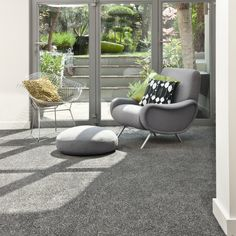 A shade of grey carpet for a bright summer's day. Love everything about this x