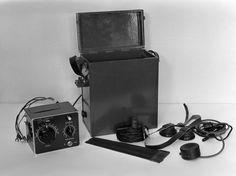 Short wave radio telephone made in Yleisradio's workshop, ca 1940.