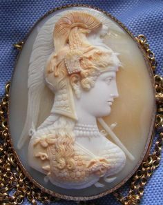 belaquadros:    Athena cameo necklace