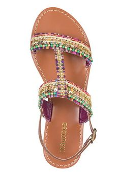 jypsy embellished sandal in multi color - maurices Girls Sandals, Girls Shoes, Stylish Shoes For Women, Fashion Shoes, Fashion Accessories, Wide Shoes, Embellished Sandals, Summer Shoes, Me Too Shoes