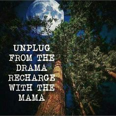 Unplug from the drama, recharge with the Mama~ thank you mother earth ; Life Quotes Love, Quotes To Live By, Me Quotes, Pagan Quotes, Badass Quotes, Family Quotes, Mother Nature Quotes, Mother Quotes, Save Mother Earth