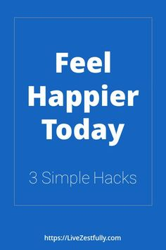 Do you want the feel happier every day? Are you sick and tired of feeling miserable all the time? In this post I'll teach you 3 simple hacks that when used consistently will help you feel better about yourself today. Click here to learn 3 new techniques to feel happier with yourself and your life consistently and over the long term. #feelhappier, #behappy, #happiness Feeling Happy, How Are You Feeling, In A Funk, Stuck In A Rut, Negative Self Talk, Happy Today, That One Friend, Learn To Love, Understanding Yourself