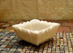 lotus square marble bowl