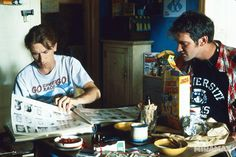 Quentin Tarantino with Tim Roth -Reservoir Dogs