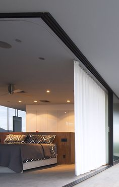Changeroom Curtains on Recessed Track