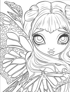 Blank Coloring Pages, Fairy Coloring Pages, Printable Adult Coloring Pages, Animal Coloring Pages, Coloring Books, Colorful Pictures, Halloween, Drawings, Artwork