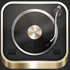 i phone app: DJ Mixer Pro for evening dance music