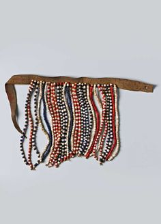 Turkana peoples Creation Place/Dates: Kenya, Title: Apron Medium: Goatskin, glass beads, and fiber African Art, Kenya, Gemstone Jewelry, Iris, Glass Beads, Apron, Jewels, Gemstones, Fiber