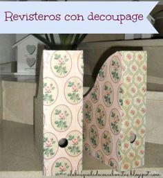 DIY: Revisteros con decoupage