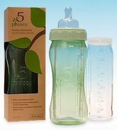 5 Phases Revolutionary Hybrid GLASS Baby Bottles. Unbreakable plastic on the outside. Non-toxic glass on the inside.