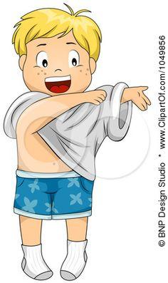Free Rf Clip Art Illustration Of A Happy Cartoon Boy Getting Dressed