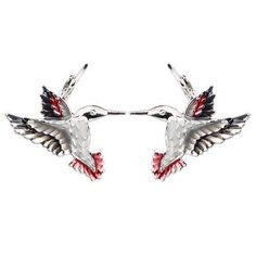 Enamel Alloy Floral Hummingbird Eagle Stud French Clip Earrings Clip On Earrings, Women's Earrings, French Clip, Shape Patterns, Hummingbird, Types Of Metal, Fashion Earrings, Eagle, Pairs