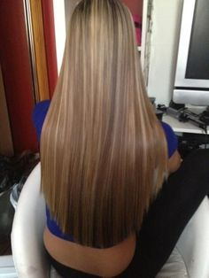 To straighten hair without heat, just mix a cup of water with 2 tablespoons of BROWN sugar, pour it into a spray bottle, then spray into damp hair and let air dry. (I think I already pinned this,but you can never be too sure! lol)