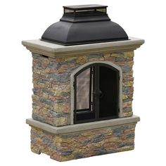 Perfect fireplace for the deck.  Fresno Chiminea in Natural Stone.  Wayfair