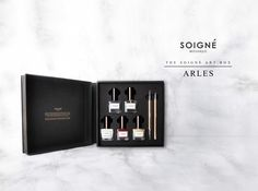 INTRODUCING ARLES ART BOX This ultra luxe nail art box is now live on our website! The limited edition box has all basic nail art essentials covered. Discover more http://www.soignenails.com/collections/gift-shop/products/arles
