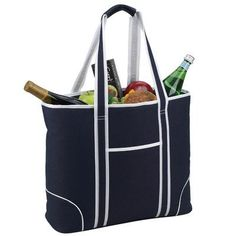 Picnic At Ascot Classic Large Insulated Tote Picnic Cooler Color: Navy