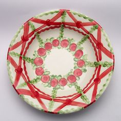 paloma Teller, Plates, Tableware, Design, Red, Green, Tablewares, Licence Plates, Dishes