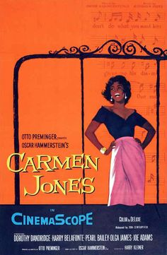 Carmen Jones Poster Movie 27 x 40 In - x Dorothy Dandridge Harry Belafonte Pearl Bailey Roy Glenn Diahann Carroll Brock Peters Harry Belafonte, Dorothy Dandridge, Saul Bass, West Side Story, Good Girl, Cindy Lou, Classic Movie Posters, Classic Films, Cinema Posters
