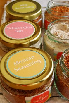 Homemade spice mix gifts on 80 Breakfasts