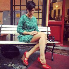 #dress#atticandbarn, #shoes#albertaferretti