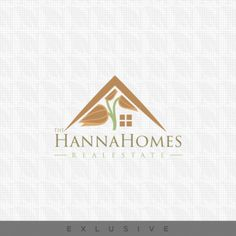 Real Estate Logo -   Hanna Homes Real Estate Logo  A flower intact inside the house creating a elegant look. and this logos is suitable for -   Real Estate, Charity, Fund, Housing, Project, Children, School, Garden, Exterior, Interior, Magazine, Web, Store, Real Estate, Agents, Residential, Houses, Hand Made