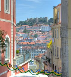 Lisbon through buildings gives a Ninefoot view of perspective....