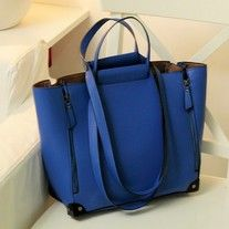 retro blue handbag