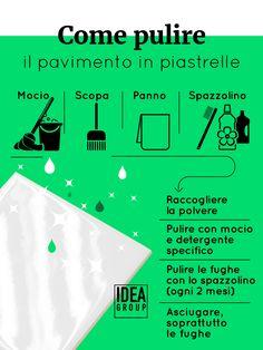 Come pulire alla perfezione il pavimento in piastrelle del bagno? Trovate questo e altri utili consigli nel nostro blog! #ideagroup #diy #tutorial #pulizia
