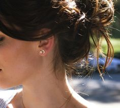 14kt gold and diamond star and moon stud earring – Luna Skye by Samantha Conn