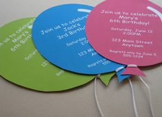 Up Up & AwayPersonalized Balloon Party by TeaPartyDesigns on Etsy, $12.00