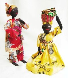CAMEROON - pair of hand made dolls