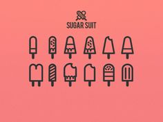 Sugar suit icon collection