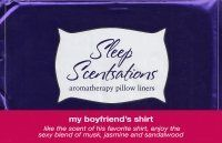 Scented Pillow Liner - My Boyfriend's Shirt by Sleep Scentsations. $2.99. Pillow Liner- Like the scent of his favorite shirt, enjoy the sexy blend of musk, jasmine and sandalwood. Lasts up to 1 week.