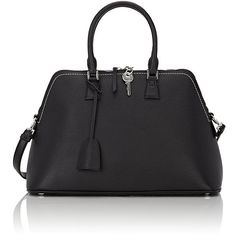 Maison Margiela 5AC Satchel ($2,995) ❤ liked on Polyvore featuring bags, handbags, black, satchel purses, shoulder bag purse, zip purse, fold over crossbody purse and handbag satchel