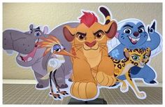 Lion Guard Centerpiece, Kion Lion Guard Party, Kion, Bunga, Fuli, Beshte and Ono Birthday Party Centerpieces. Lion Guard Centerpiece are a fun