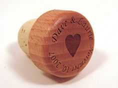 Wedding Wine Bottle Stopper - Wedding Favor or Wedding Gift. I must do this!