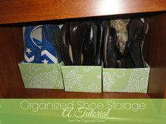 #DIY Easy shoe storage tutorial!